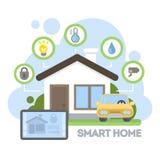Smart home illustration. Stock Photo