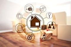 Smart home interface vector illustration