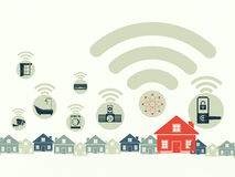 Smart home and Internet of Things concept. royalty free illustration