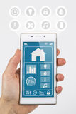 Smart home internet of things control Royalty Free Stock Photos