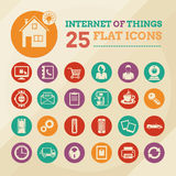 Smart home and internet of things icon set Royalty Free Stock Photography