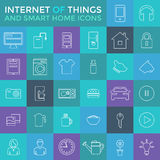 Smart Home And Internet Of Things Icon Set Royalty Free Stock Images