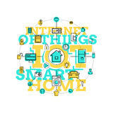 Smart Home And Internet Of Things Line Art Stock Photos