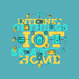Smart Home And Internet Of Things Line Art Royalty Free Stock Photo
