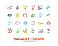 Smart Home Line Icon Collection Stock Photo