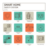 Smart Home. Line vector  icon set Stock Photo