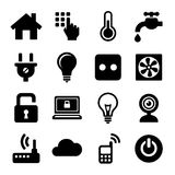 Smart Home Management Icons Set. Vector Royalty Free Stock Photography