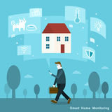 Smart home monitoring Royalty Free Stock Image