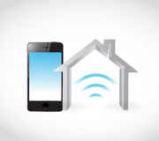 Smart home phone concept illustration design. Graphic over white Royalty Free Stock Photo