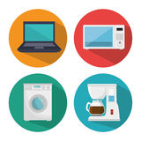 Smart home set menu icons Stock Photography