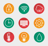 Smart home set menu icons Royalty Free Stock Photo
