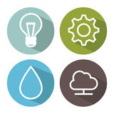 Smart home set menu icons Stock Photos
