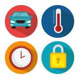 Smart home set menu icons Stock Image