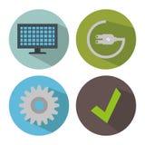 Smart home set menu icons Stock Photos