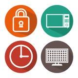 Smart home set menu icons Stock Photography