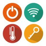 Smart home set menu icons Royalty Free Stock Photo