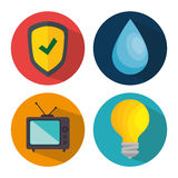 Smart home set menu icons Royalty Free Stock Photography