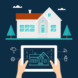 Smart Home Technology and Tab Application Royalty Free Stock Photography