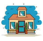 Smart home tecnology system. Vector illustration graphic design Stock Photo