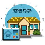 Smart home tecnology system. Vector illustration graphic design Royalty Free Stock Image