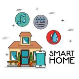 Smart home tecnology system. Vector illustration graphic design Royalty Free Stock Photos