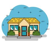 Smart home tecnology system. Vector illustration graphic design Royalty Free Stock Images