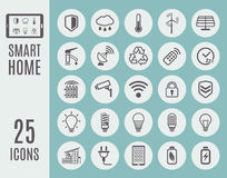 Smart home thin line icon set. Automation control systems. Vector illustration.  Stock Photography