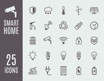 Smart home thin line icon set. Automation control systems. Vector illustration Royalty Free Stock Photo
