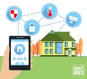 Smart home vector concept. Royalty Free Stock Photo