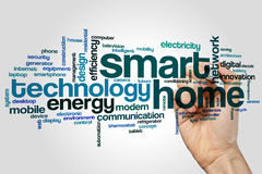 Smart home word cloud Royalty Free Stock Photography