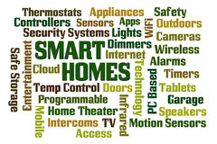 Smart Homes. Word cloud on white background Stock Photo