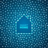 Smart house abstract background stock illustration