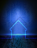 Smart house abstract background Royalty Free Stock Images