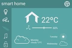 Smart house application interface. Digital composite of Smart house application interface Royalty Free Stock Photography
