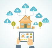 Smart house automation Royalty Free Stock Images