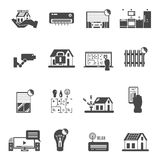 Smart House Black White Icons Set Royalty Free Stock Images
