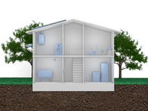 Smart house concept Stock Images