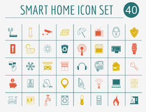 Smart house concept. Icon set. Flat style design royalty free illustration
