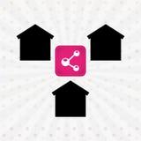 Smart house design Stock Photos