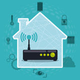 Smart house design. Royalty Free Stock Photography
