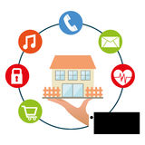 Smart house Royalty Free Stock Image