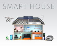 Smart house with energy efficient appliances Stock Photos