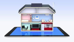 Smart house with energy efficient appliances Royalty Free Stock Image