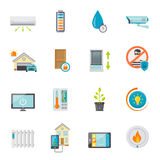 Smart House Flat Icons Set Stock Photography