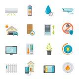 Smart House Flat Icons Set Stock Photography