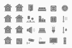 Free Smart House Icons Set 01-05 Stock Images - 208214594