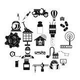 Smart house icons set, simple style. Smart house icons set. Simple set of 25 smart house vector icons for web isolated on white background royalty free illustration