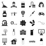 Smart house icons set, simple style. Smart house icons set. Simple set of 25 smart house vector icons for web isolated on white background vector illustration
