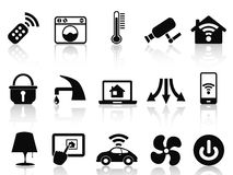 Smart house icons set Stock Photos