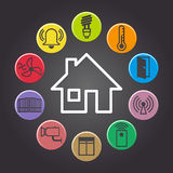 Smart house. Illustration of background symbolizing the smart home Royalty Free Stock Photo